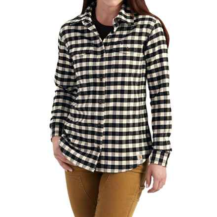 Carhartt Hamilton Flannel Shirt - Long Sleeve, Factory Seconds (For Women) in Birch - 2nds