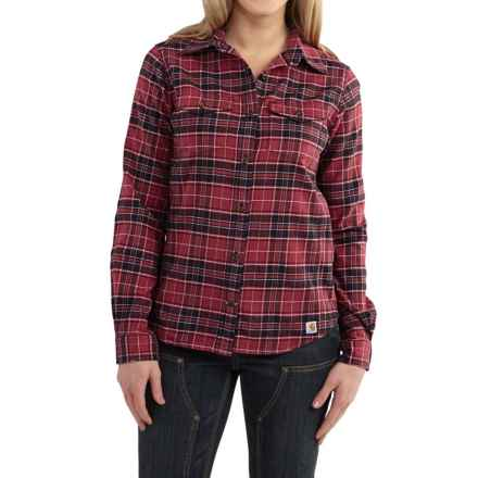 Carhartt Hamilton Flannel Shirt - Long Sleeve, Factory Seconds (For Women) in Dark Red Heather - 2nds