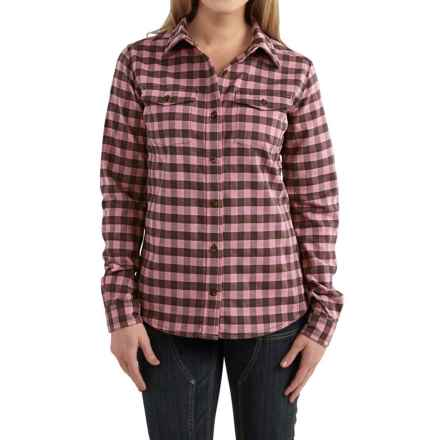 Carhartt Hamilton Flannel Shirt - Long Sleeve, Factory Seconds (For Women) in Lilas - 2nds
