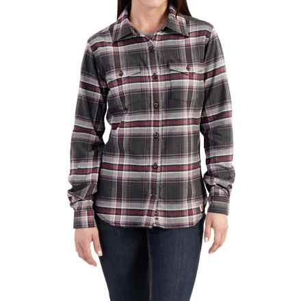Carhartt Hamilton Flannel Shirt - Long Sleeve, Factory Seconds (For Women) in Minimal Gray Heather - 2nds