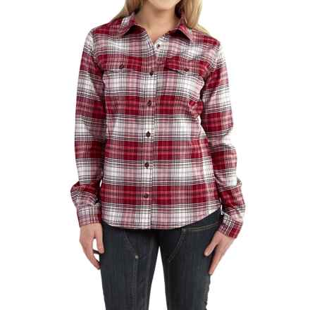 Carhartt Hamilton Flannel Shirt - Long Sleeve, Factory Seconds (For Women) in Wild Rose - 2nds