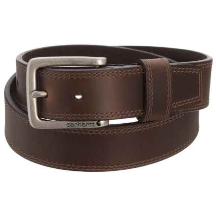 Carhartt Hamilton Harness Buckle Belt - Leather (For Men) in Brown - Closeouts