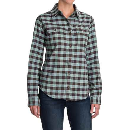 Carhartt Hamilton II Flannel Shirt - Long Sleeve (For Women) in Dark Shale/Coastline - 2nds