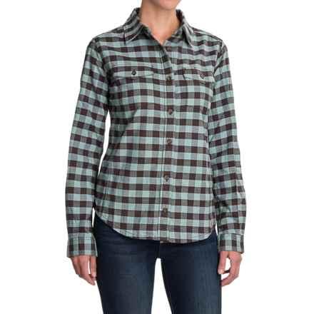 Carhartt Hamilton II Flannel Shirt - Long Sleeve (For Women) in Dark Shale/Coastline - 2nds