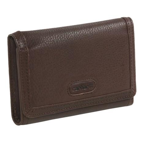 Carhartt Harper Leather Wallet (For Women) in Dark Brown