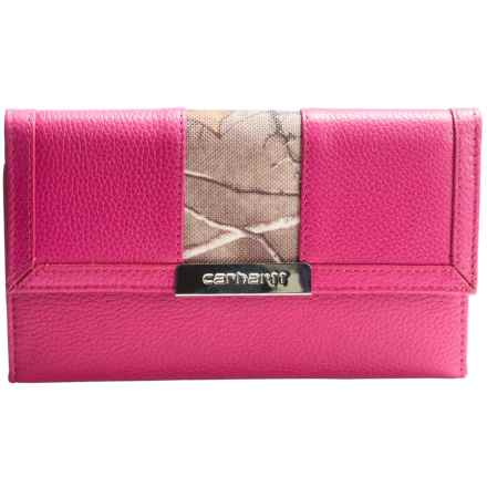 Carhartt Harper Wallet - Leather (For Women) in Pink Camo - Closeouts