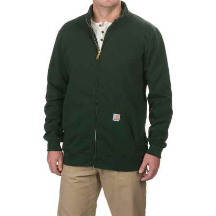 Carhartt Haughton Midweight Sweatshirt - Full Zip, Factory Seconds (For Big and Tall Men) in Canopy Green - 2nds