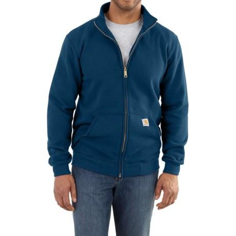 Carhartt Haughton Mock Neck Sweatshirt - Front Zip, Factory Seconds (For Big and Tall Men) in Superior Blue