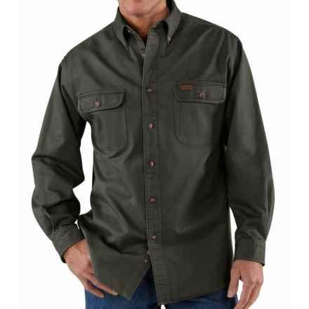 Carhartt Heavyweight Cotton Shirt - Long Sleeve, Factory Seconds (For Men) in Moss - 2nds