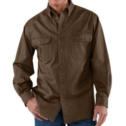 Carhartt Heavyweight Cotton Shirt - Long Sleeve (For Men) in Dark Brown - 2nds