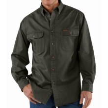 Carhartt Heavyweight Cotton Shirt - Long Sleeve (For Men) in Moss - 2nds