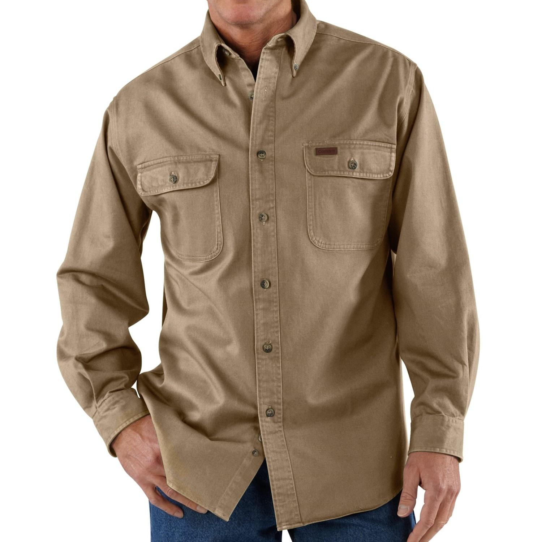 Carhartt Heavyweight Cotton Shirt Long Sleeve For Tall Men