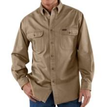 Carhartt Heavyweight Cotton Shirt - Long Sleeve (For Tall Men) in Cottonwood - 2nds