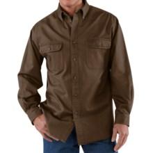 Carhartt Heavyweight Cotton Shirt - Long Sleeve (For Tall Men) in Dark Brown - 2nds