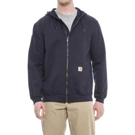Carhartt Heavyweight Hooded Sweatshirt - Full Zip, Factory Seconds (For Big and Tall Men) in Dark Navy - 2nds