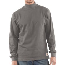 Carhartt Heavyweight Mock Turtleneck - Cotton, Long Sleeve (For Men) in Charcoal - 2nds