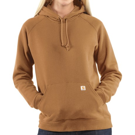Carhartt Heavyweight Pullover Sweatshirt - Hooded (For Women) in Carhartt Brown