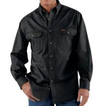 Carhartt Heavyweight Sandstone Twill Shirt (For Big Men) in Black - 2nds
