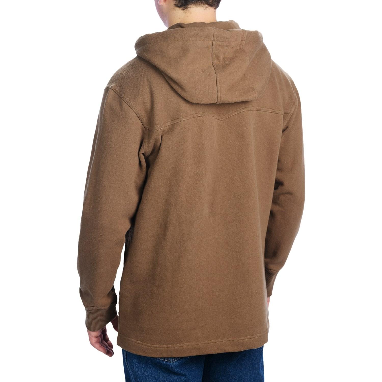 Mens henley hoodie