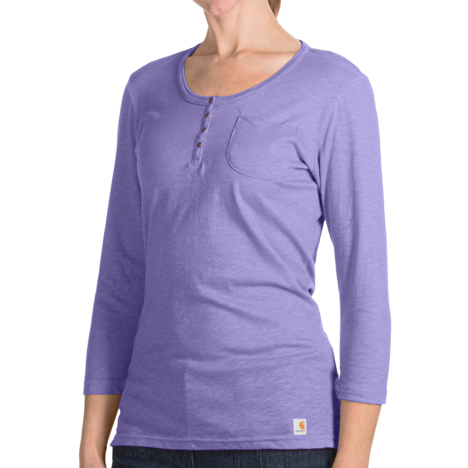 Carhartt Henley Shirt 3 4 Sleeve For Women