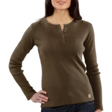 Carhartt Henley Shirt - Long Sleeve (For Women) in Chocolate - 2nds