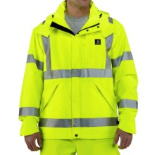 Carhartt High-Visibility Class 3 Jacket - Waterproof (For Men) in Brite Lime - 2nds
