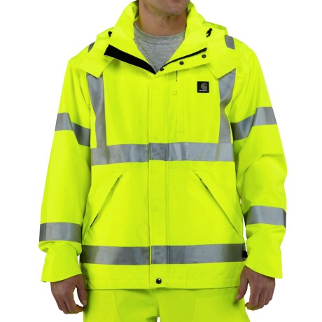 Carhartt High Visibility Class 3 Jacket Waterproof (For Men)