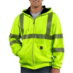 Carhartt High-Visibility Class 3 Sweatshirt - Thermal Lining, Zip Front (For Men) in Brite Lime