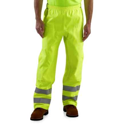 Carhartt High Visibility Class E Pants - Waterproof (For Men) in Bright Lime - 2nds