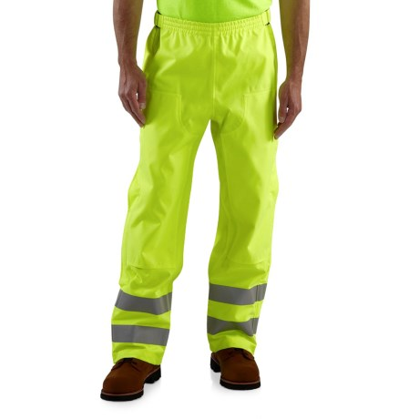 Carhartt High Visibility Class E Pants - Waterproof (For Men) in Bright Lime
