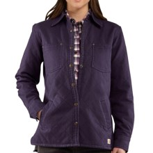 Carhartt Highland Shirt Jacket - Insulated, Quilted (For Women) in Nightshade - 2nds