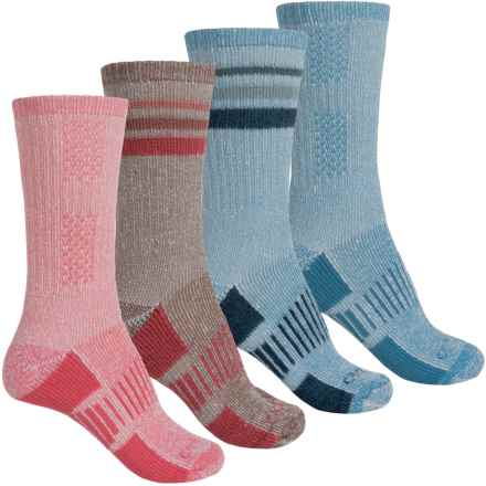 Carhartt Hiking Socks - 4-Pack, Crew (For Women) in Blue - Closeouts