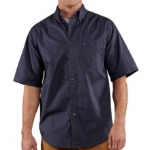 Carhartt Hines Solid Shirt - Cotton Twill, Short Sleeve (For Men) in Deep Blue - 2nds