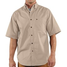 Carhartt Hines Solid Shirt - Cotton Twill, Short Sleeve (For Men) in Stone - 2nds