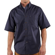 Carhartt Hines Solid Shirt - Cotton Twill, Short Sleeve (For Tall Men) in Deep Blue - 2nds
