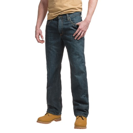 Carhartt Holter Fleece-Lined Jeans - Relaxed Fit, Factory Seconds (For Men) in Blue Ridge