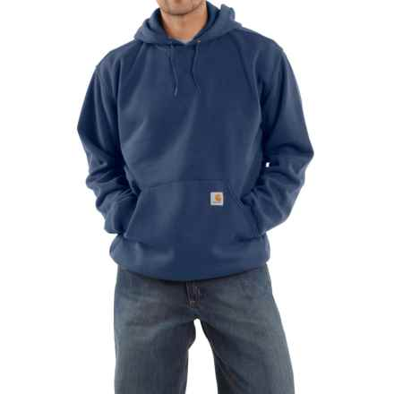 Carhartt Hooded Fleece Sweatshirt (For Tall Men) in New Navy - 2nds