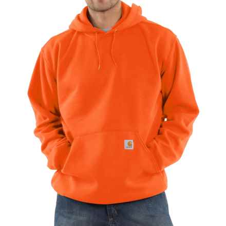 Carhartt Hooded Fleece Sweatshirt (For Tall Men) in Orange - 2nds