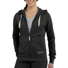 Carhartt Hooded Track Jacket - Stretch Cotton (For Women) in Black - 2nds