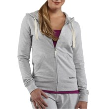 Carhartt Hooded Track Jacket - Stretch Cotton (For Women) in Heather Grey - 2nds