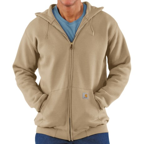 Carhartt Hoodie Jacket (For Men) in Dark Tan
