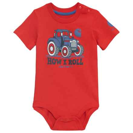 Carhartt How I Roll Bodysuit - Short Sleeve (For Infants) in Bright Red - Closeouts