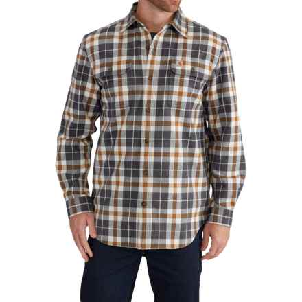 Carhartt Hubbard Flannel Plaid Shirt - Long Sleeve (For Men) in Asphalt - Closeouts