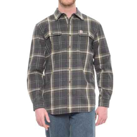 Carhartt Hubbard Flannel Shirt - Long Sleeve (For Big and Tall Men) in Black Heather - Closeouts
