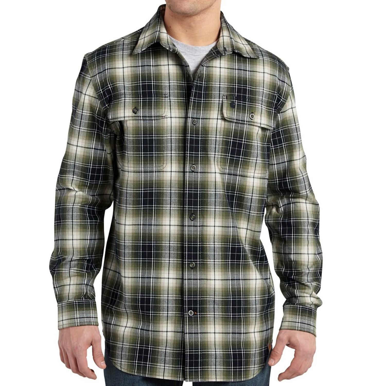 Carhartt Hubbard Flannel Shirt For Big And Tall Men