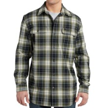 Carhartt Hubbard Flannel Shirt - Original Fit, Long Sleeve (For Big and Tall Men) in Duffle Bag Green - 2nds