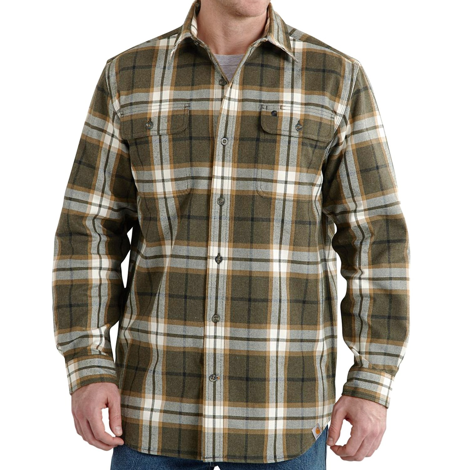 Carhartt Hubbard Flannel Shirt For Big And Tall Men