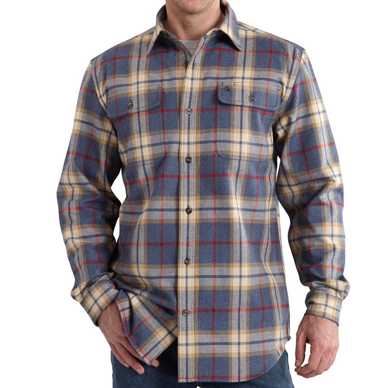 Carhartt Hubbard Flannel Shirt Original Fit Long Sleeve