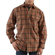Carhartt Hubbard Plaid Flannel Shirt - Long Sleeve (For Men) in Carhartt Brown - 2nds