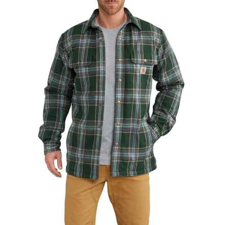 Carhartt Hubbard Sherpa-Lined Shirt Jacket - Factory Seconds (For Men) in Canopy Green - 2nds
